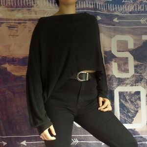 Black High Low Ultra Comfy Sweater