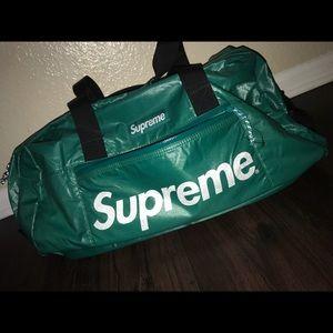 Supreme teal duffle bag
