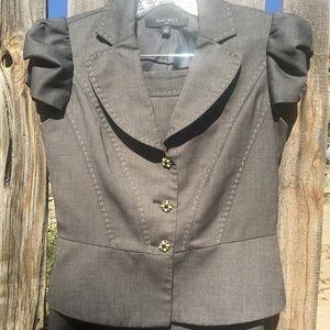 Nine West Grey Skirt Suit Top Size 2 Skirt Size 4
