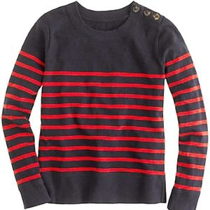 J.Crew Tortoise-Button Sweatshirt