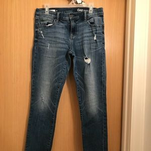 Gap girlfriend jeans with rips
