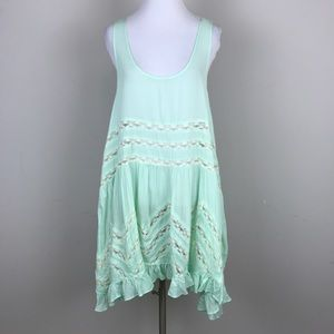[Free People] Voile Lace Trapeze Slip Spring Green