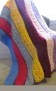 🚨🚨🚨Rainbow Blanket Crochet Patchwork 40x42