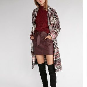 Express plaid coat