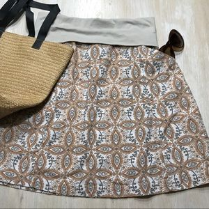 Skirt Columbia batik pattern pockets knit waist S