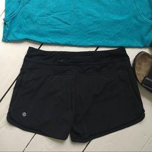 LULULEMON Running Shorts, Size 4, Black