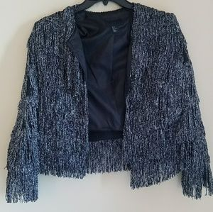 H & M Fringe party jacket