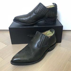 Frye Billy Cowboy Dark Ankle Boots