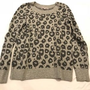 GAP leopard print wool sweater
