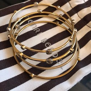 Henri Bendel Gold Bangles Set