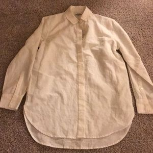 Structured white button up