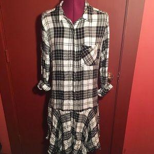 Sam Edelman Drop-Waist Plaid Dress
