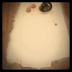 NWT F21 Winter White ❄️ Jersey Bodycon Skirt
