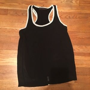 The Limited Black and White Cross Back Tank S