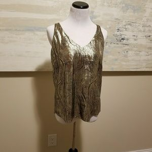 Gorgeous Gilded J. Crew Collection Tank Top Size 0