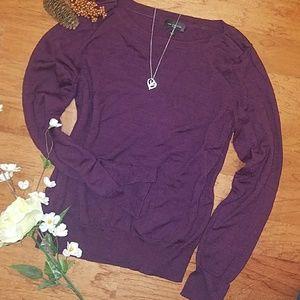 Cozy purple sweater!