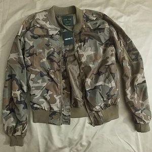 Forever 21 Camo/Military Bomber Jacket