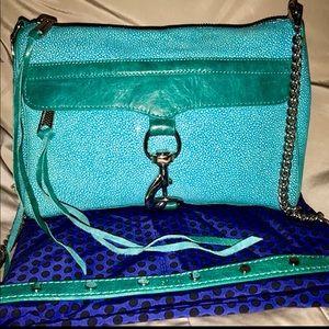 Rebecca Minkoff Mac Crossbody Aqua Caviar Leather