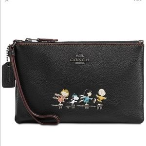 Authentic Coach Peanuts Wristlet