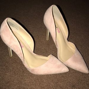 JustFab blush pink heels