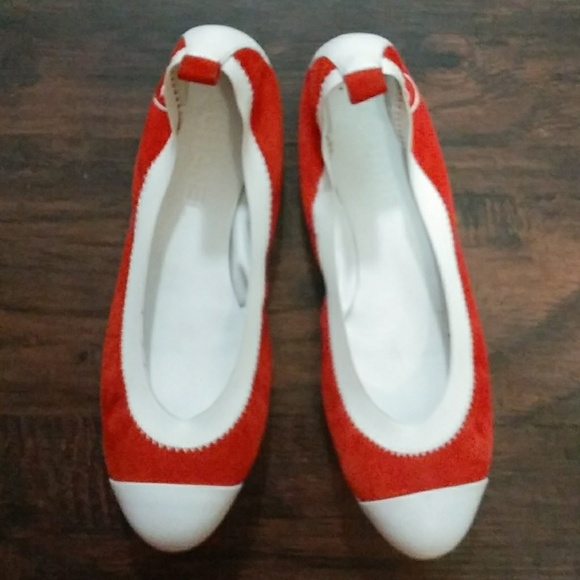 CHANEL Shoes | Channel Red White Flats