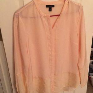 J.Crew 100% Silk hi-low tunic blouse