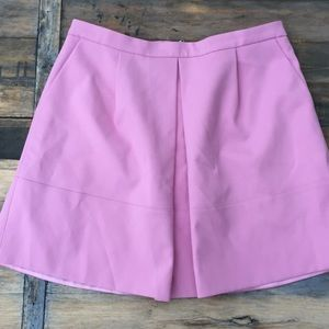 J. Crew Light Pink Structured Skirt 12 Pleated