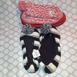 Shoes - 2 pairs of pom pom slippers