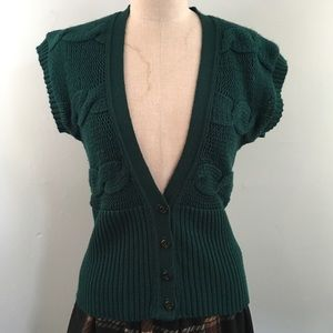 Charlotte Russe // Forest S/S Cable Knit Cardigan