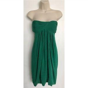 BCBGMaxAzria Green Back Revealing Dress