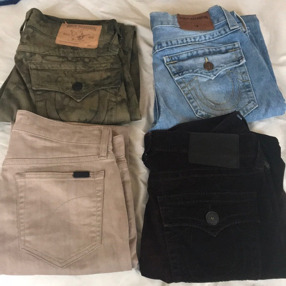 bd763db65b6db True Religion Jeans | 3 Pairs Of Designer For Cheap Buy Now | Poshmark