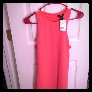 H&M Coral Racer Back Dress