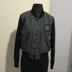 lined jacket, snap close good condition