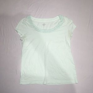 Loft Petites Size MP Women's Light Blue Shirt