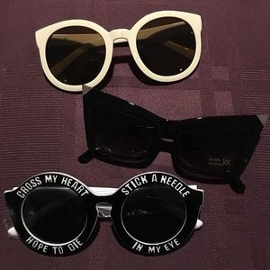 3 pairs of brand new sunglasses