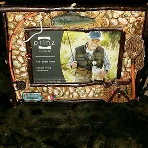 New 2 Picture Frames Fishing Hunting