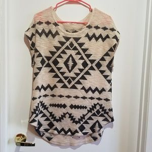 Knit Aztec Blouse