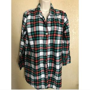 J. Crew Plaid Long Sleeved Button Down
