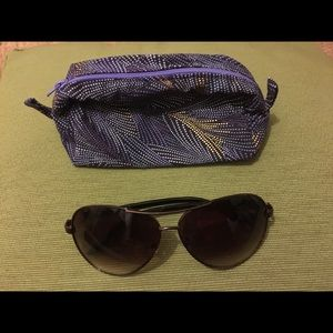 Women's Aviator Sunglasses & Case