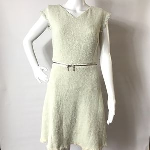 NWT Rebecca Taylor Tweed Zipper Cap Sleeve Dress 6