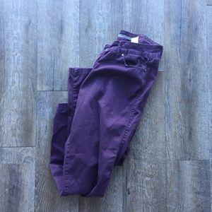 ZARA basics purple skinny jeans size 12