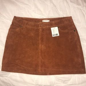 NWT Urban Outfitters Suede Mini Skirt