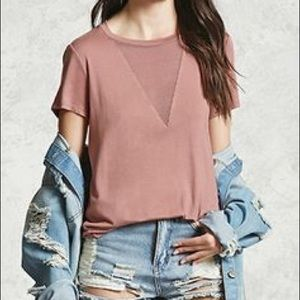 NWOT Blush basic t-shirt