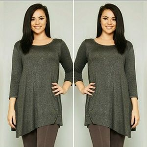 Tops - 🌟New Arrival Plus Size Tunic Long sleeve Top🌟