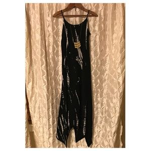 Xhilaration black tie dye maxi dress