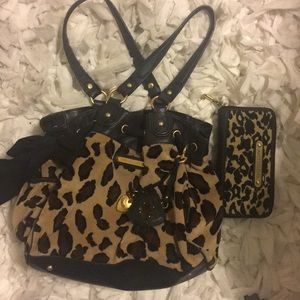Juicy Couture Leopard Print Wallet and Bag