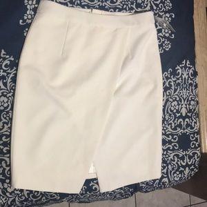 Off white midi skirt