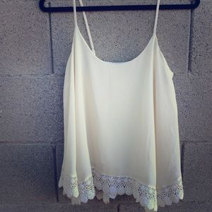 Lined Cami with Bottom Lace