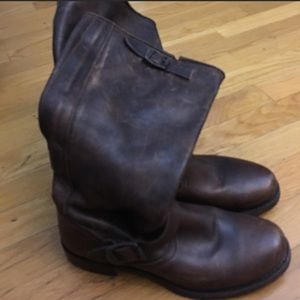 Frye Veronica Slouch Brown Boots.