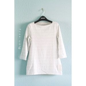 A New Day | NWT Boat Neck Striped 3/4 Sleeve Tee